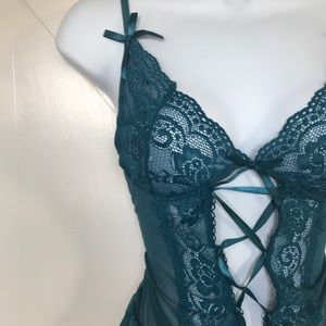 Other - Green Lace Babydoll Lingerie With g string
